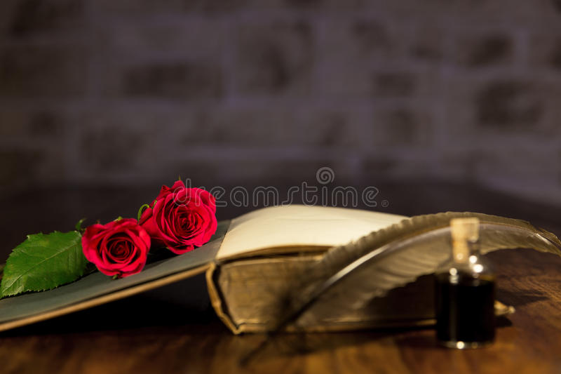 Romantischer Hintergrund für einen Roman stockfoto