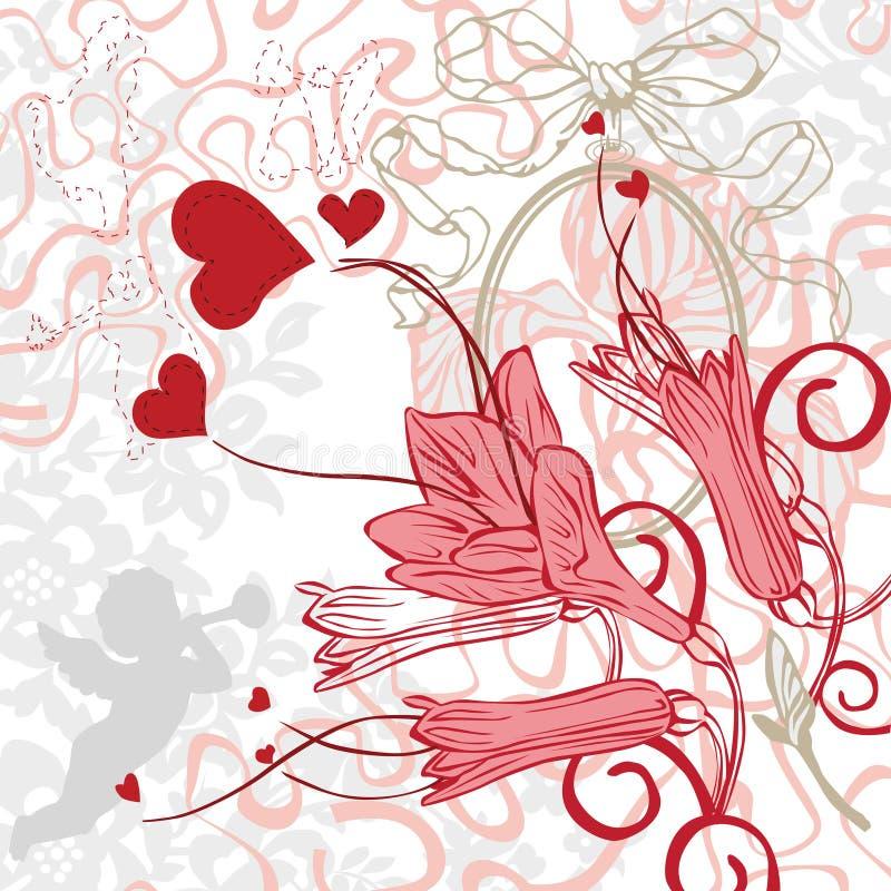 Romantischer Hintergrund mit hellen Farben vektor abbildung