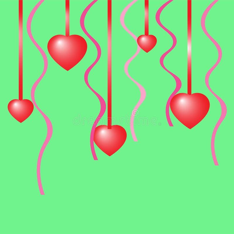 Romantischer Hintergrund mit Herzen stockfoto