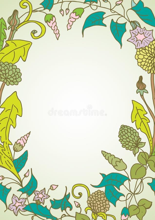 Romantischer Hintergrund Mit Kranz Der Wilden Blume Stockbilder