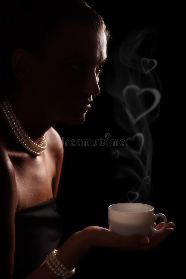 Romantischer Kaffee lizenzfreie stockbilder