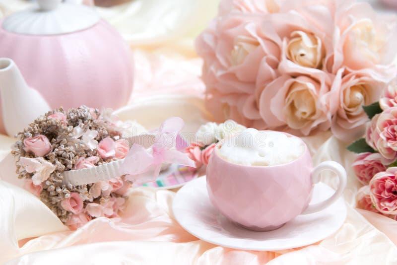 Romantischer Kaffee-Satz stockbild