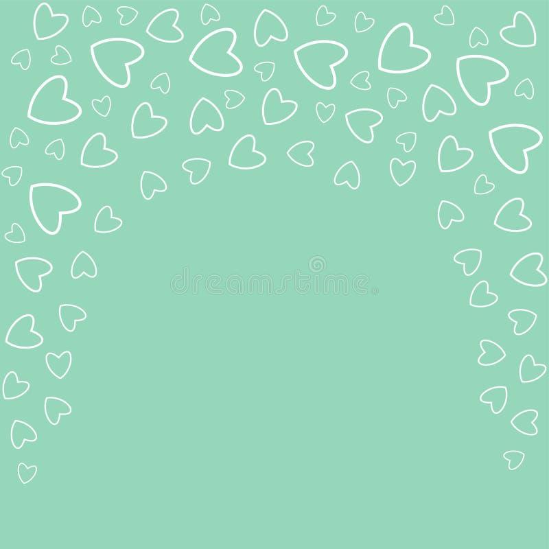 Romantischer Rahmen mit Herzen Für Drucke Karten, Einladungen, Geburtstag, Feiertage, Partei, Feier, Hochzeit, Valentinstag vektor abbildung