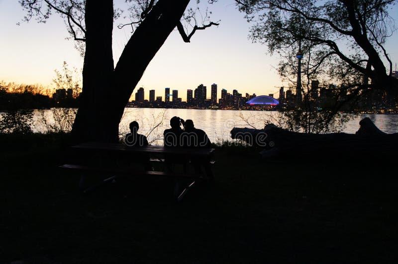 Romantischer Sonnenuntergang lizenzfreies stockbild
