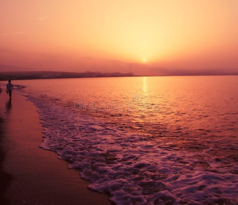 Romantischer Sonnenuntergang Kostenlose Stockfotografie