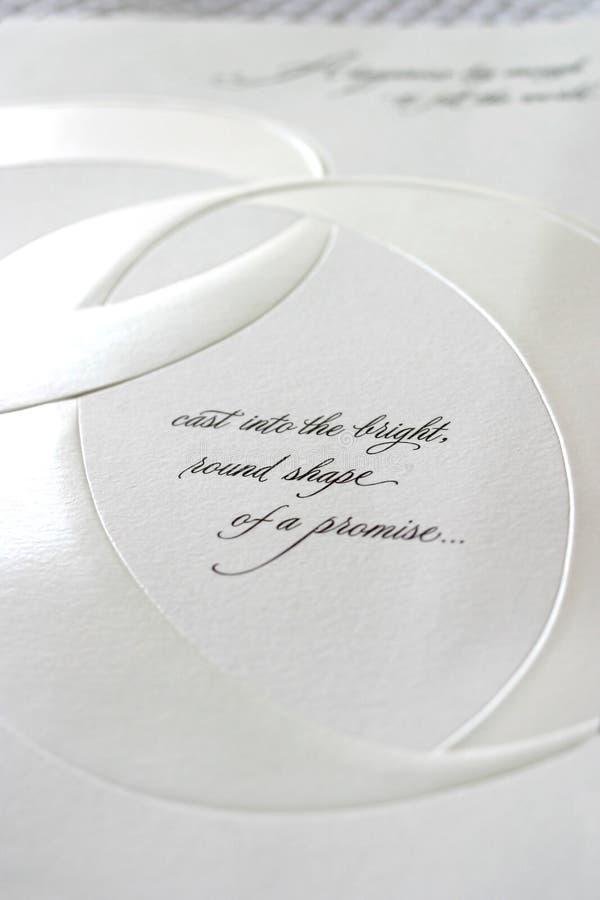 Romantischer Text stockfoto