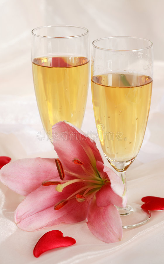 Romantischer Valentinsgruß Stockbild