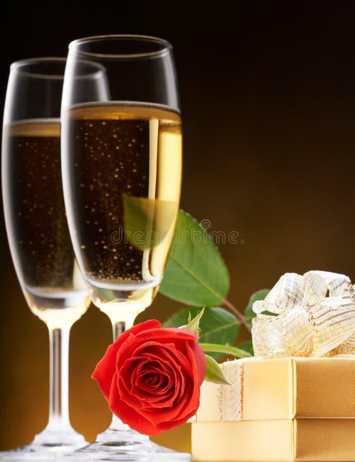Romantischer Valentinsgruß lizenzfreies stockbild