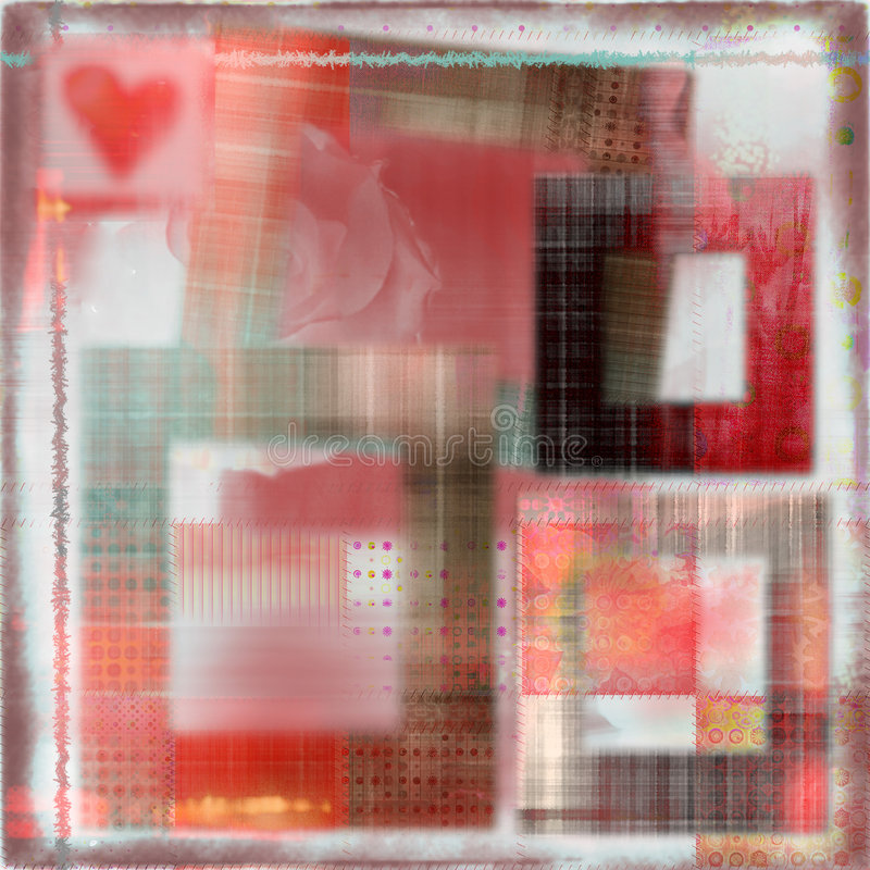Romantischer weicher Hintergrund des Luftpinsels stock abbildung