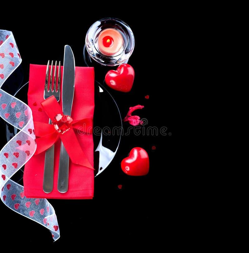 Romantisches Abendessen des Valentinstags stockfotografie