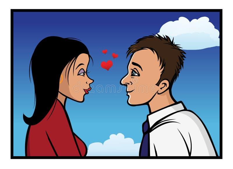 Romantisches Anstarren Stockbild