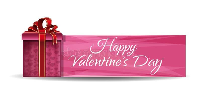 Romantisches Design für Valentinsgruß-Tag lizenzfreie abbildung