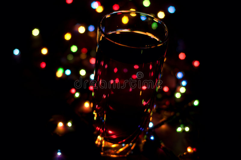 Romantisches Feiertagsgetränk lizenzfreies stockfoto