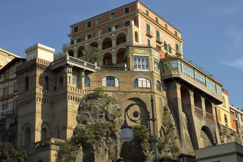 Romantisches Hotel in Sorrento stockfoto