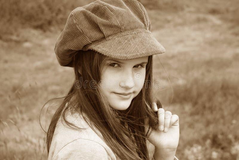 Romantisches kleines Mädchen stockbild