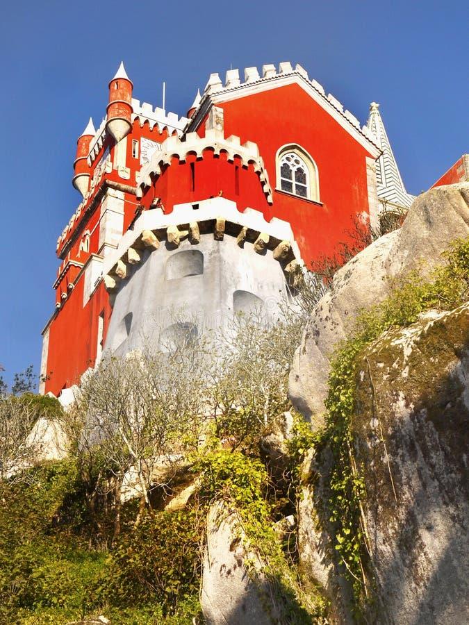 Romantisches Märchen-Schloss lizenzfreies stockbild