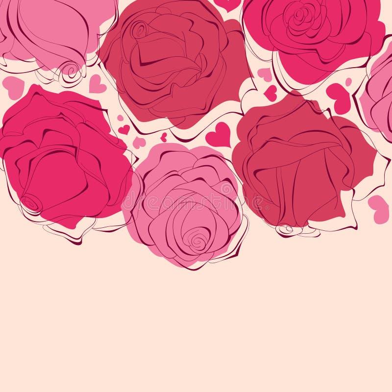 Romantisches Rosefeld stock abbildung