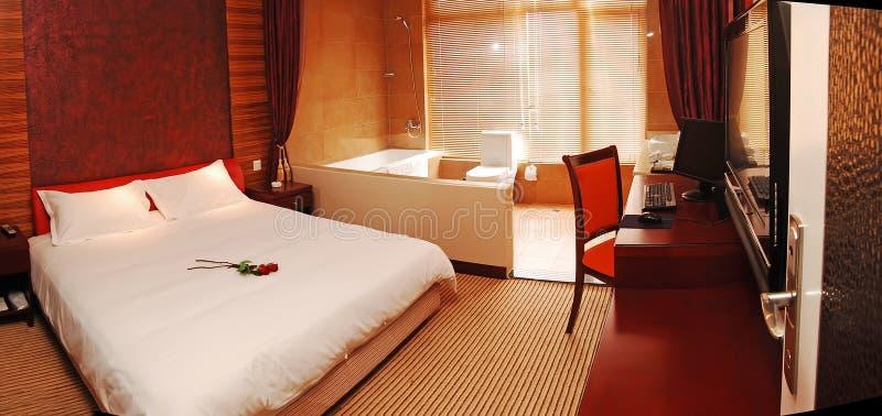 Romantisches Schlafzimmer stockfoto