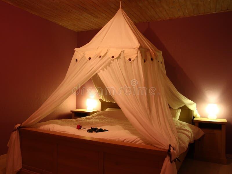 Romantisches Schlafzimmer Stockfoto. Bild Von Auslegung - 5324490