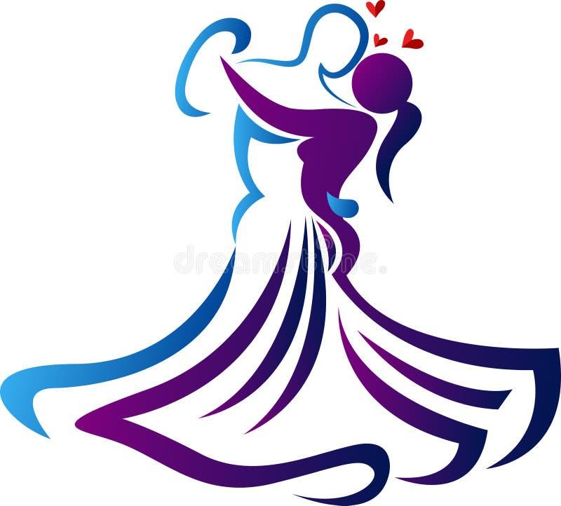 Romantisches Tanzlogo stock abbildung
