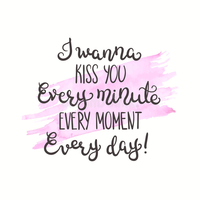 Download Romantisches Zitat Liebestext Für Valentinstag Gruß Karten Design  Vektorillustration Für Druck Altes Gelbes