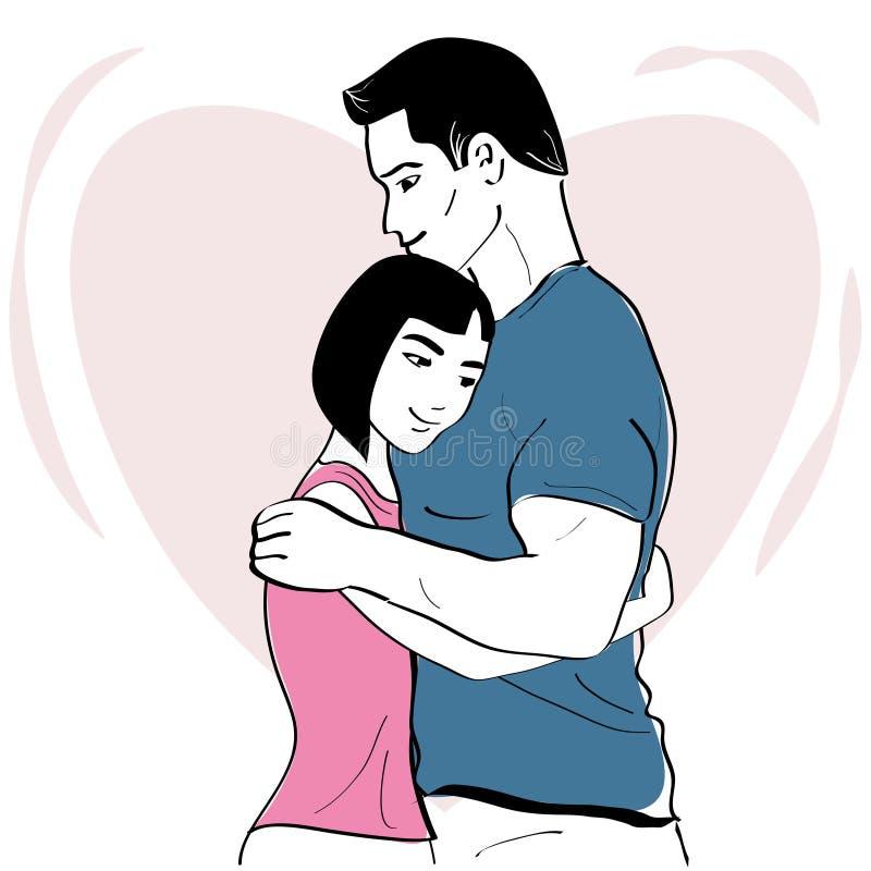 Romantisk kram royaltyfri bild