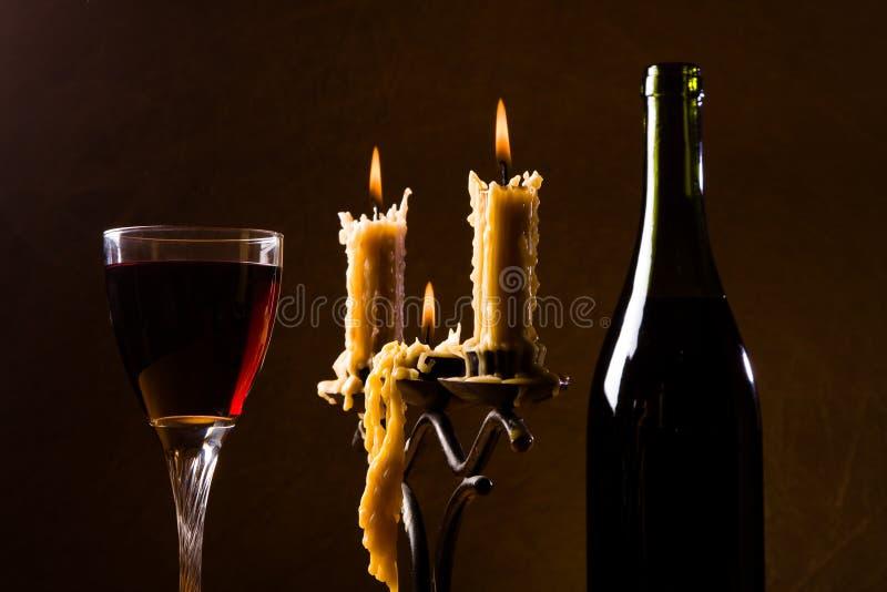 romantisk kvällsmål arkivbild