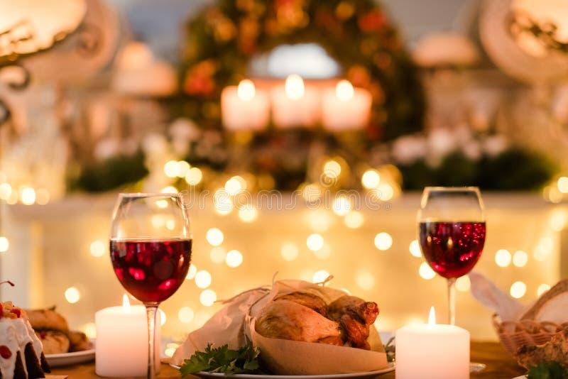 Romantisk mat för matställedatumförälskelse arkivbild