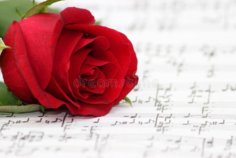 Romantisk musik, steg, pianoarket arkivfoto