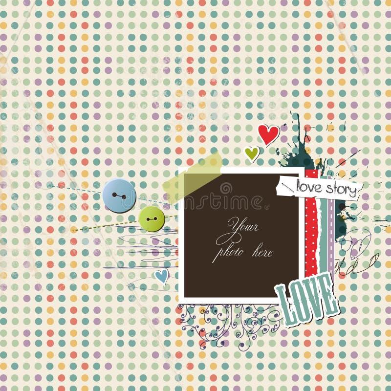 romantisk restmall stock illustrationer