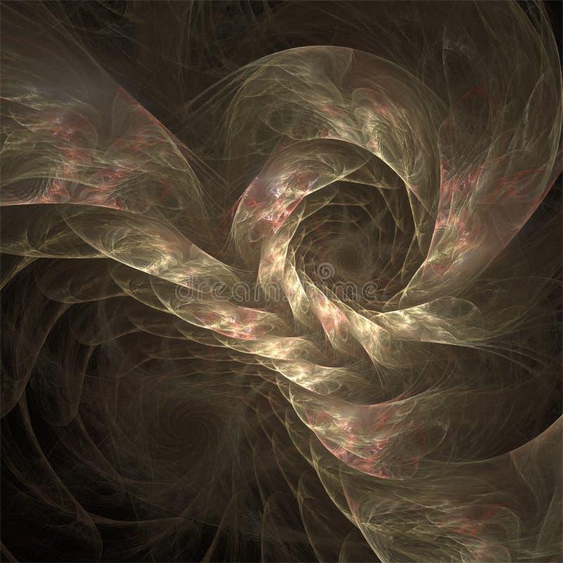Romantisk siden- shiffon för abstrakt för fractalkonstfärg fantasi för struktur vektor illustrationer