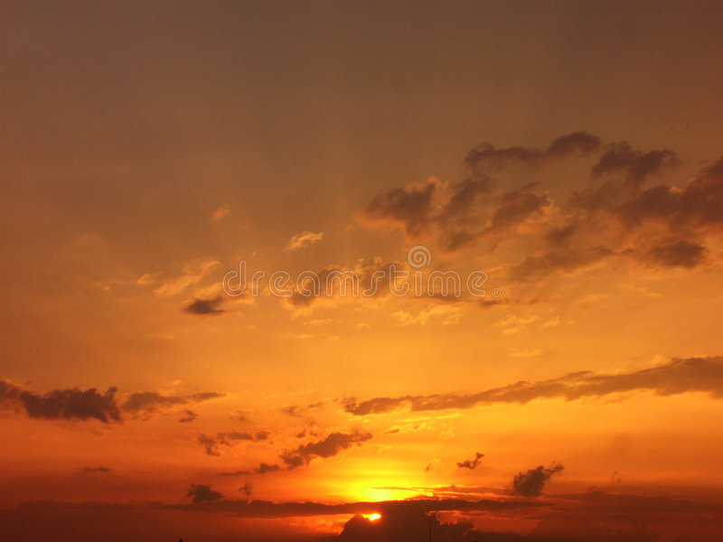 Romantisk Solnedgång Arkivfoton