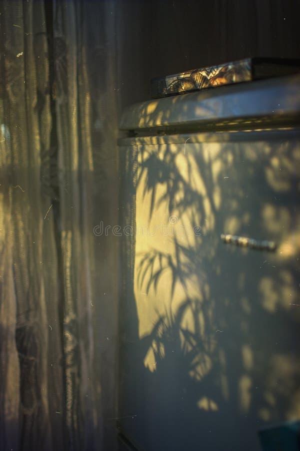 romantisk solnedg?ng Refigerator fotografering för bildbyråer
