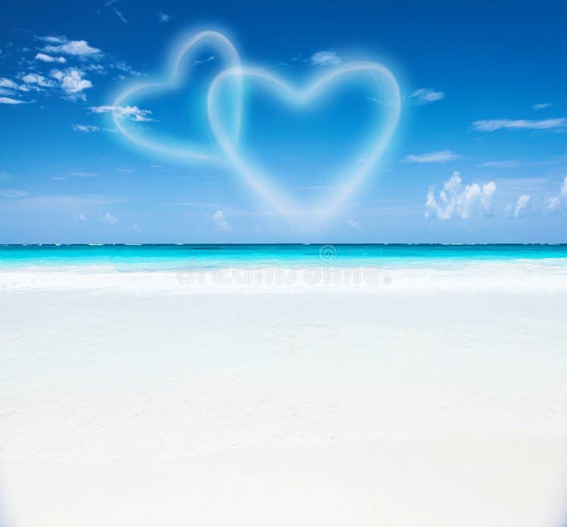 Romantisk strandsemesterort arkivbild