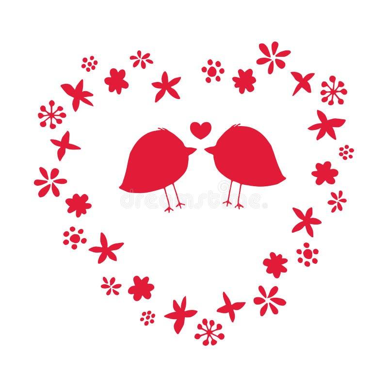 Romantisk vektorillustration för Valentine Day vektor illustrationer