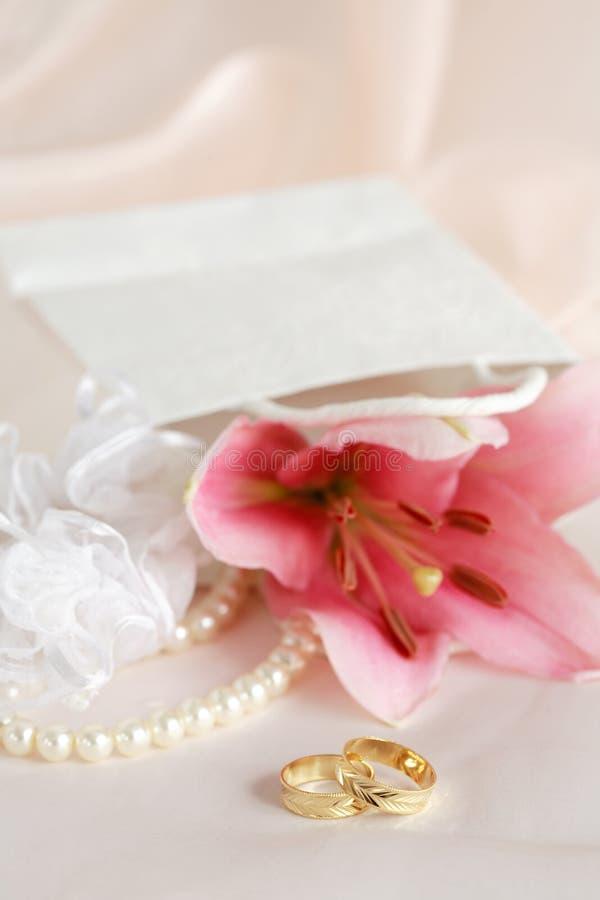 romantiskt bröllop arkivbilder
