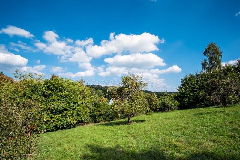 Romantiskt landskap Koenigsbronn royaltyfria bilder