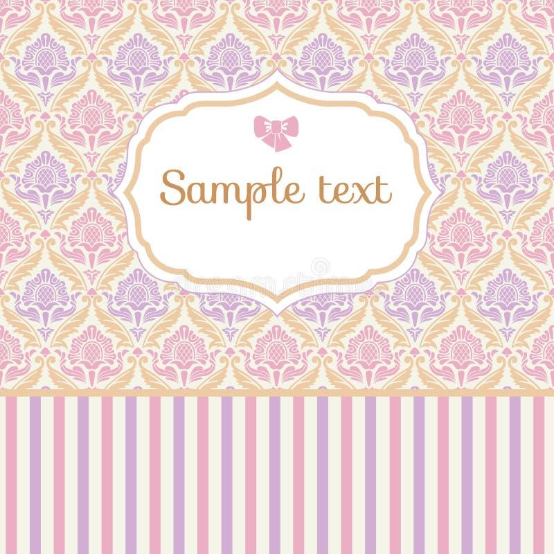 Romantiskt pastellfärgat kort royaltyfri illustrationer