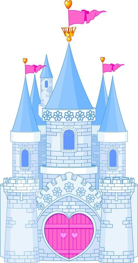 Romantiskt slott stock illustrationer