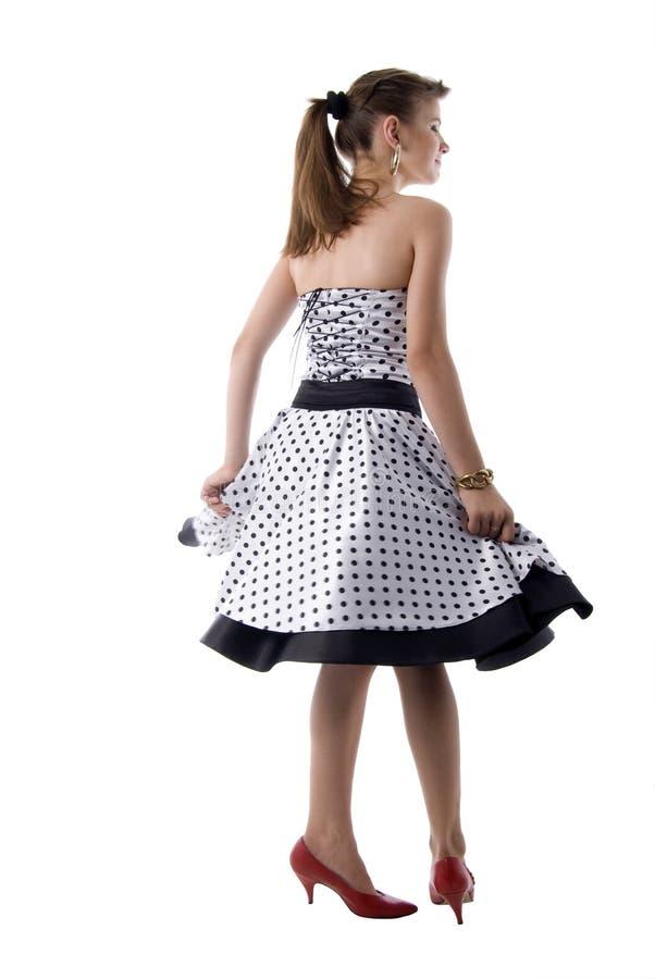 romantyczna dancingowa dziewczyna zdjęcie stock