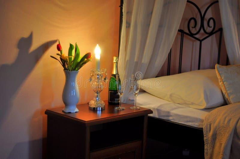 Romantyczna gość sypialnia obraz stock