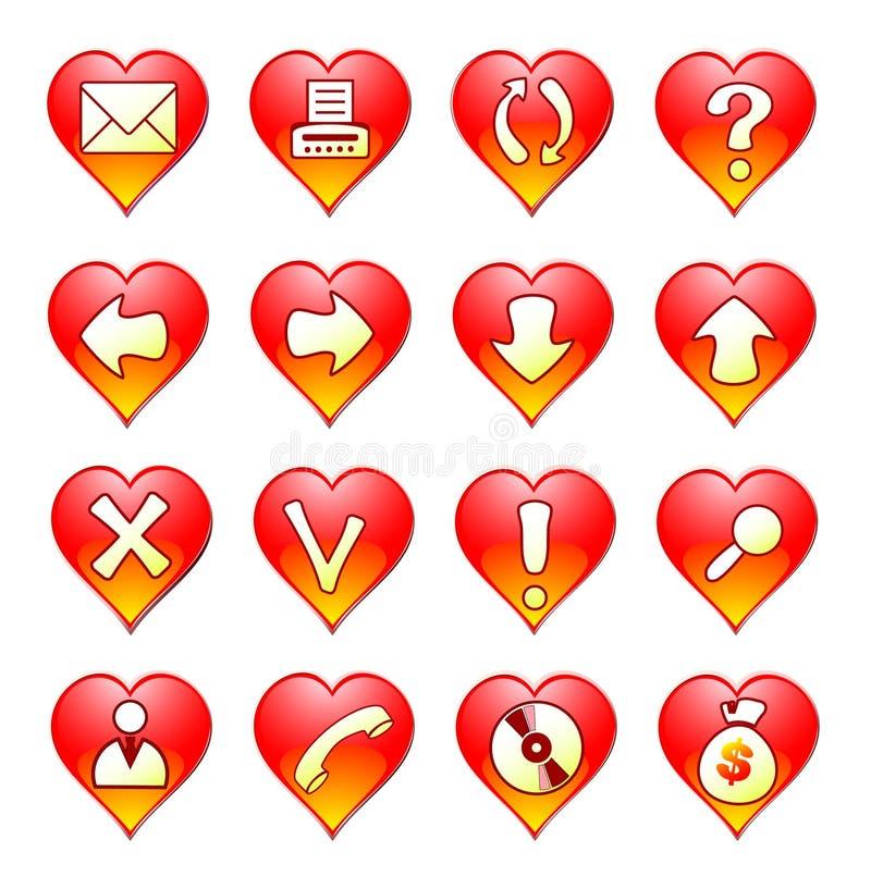 Romantyczna ikona royalty ilustracja