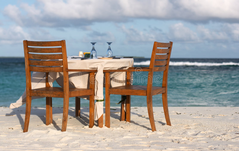 romantyczna kolacja zdjęcie stock