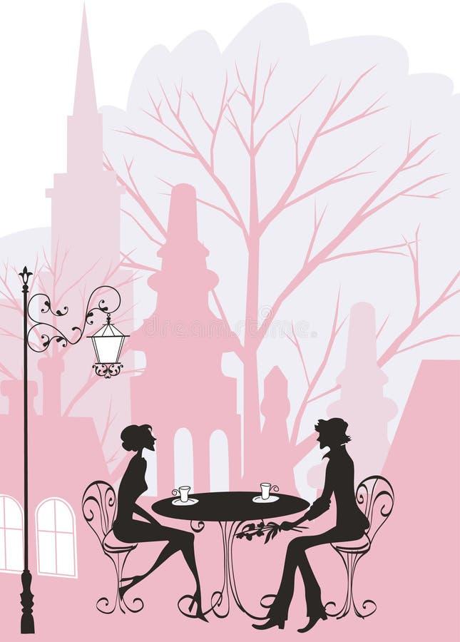 romantyczna mężczyzna kobieta royalty ilustracja