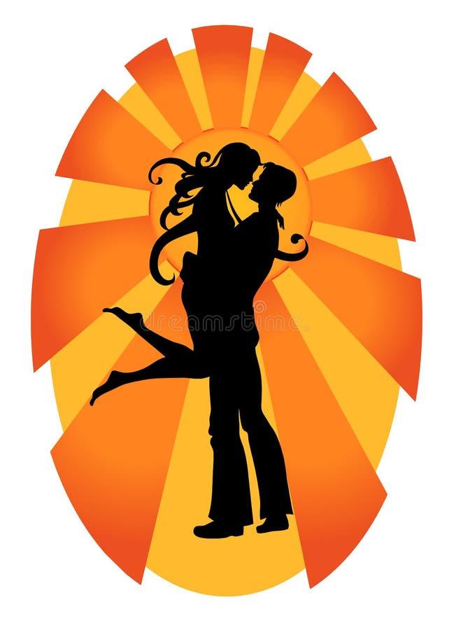 Romantyczna para ilustracja wektor
