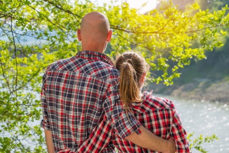 romantyczna pary miłość obraz stock
