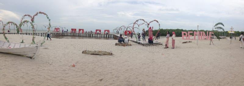Romantyczna plaża obraz stock