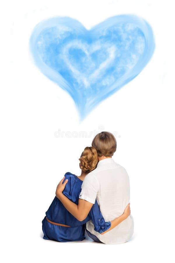 Romantyczna potomstwo para fotografia royalty free