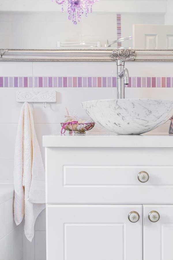 Romantyczna retro łazienka obrazy royalty free
