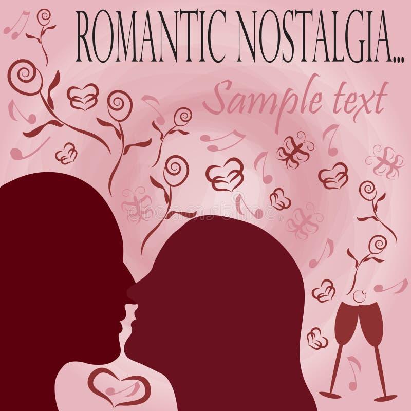 romantyczna tło nostalgia ilustracji